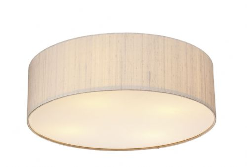Paolo 3 Light 500MM Flush complete with Silk Shade (Choose colour) PAO50 (Hand made, 10-14 day Del)